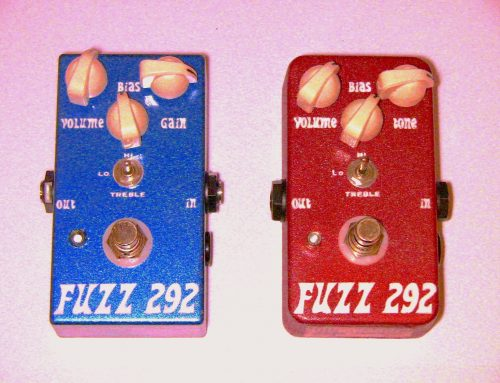 "JDM Pedals ""Fuzz 292"" Custom Silicon Fuzz Pedals – Red & Blue Versions"