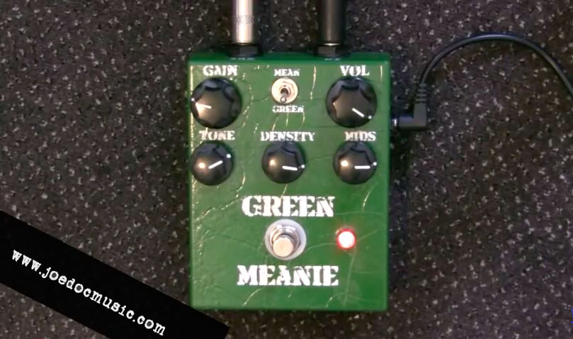 "The JDM Pedals ""Green Meanie"" on Bass – Bass Fuzz/Distortion Pedal"
